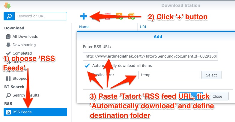 Automatically download Tatort files with Synology | BlogX