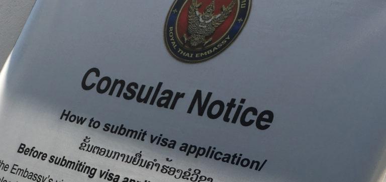 Thai visa application in Vientiane, Laos